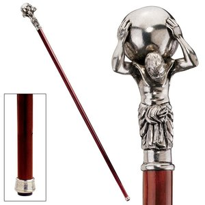 The Padrone Collection: Atlas Pewter Walking Stick