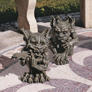 Babble and Whisper, The Gothic Gargoyle Sculptures