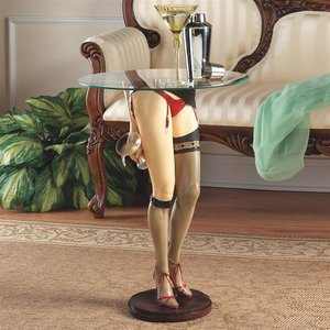 Babette Sculptural Glass-Topped Table