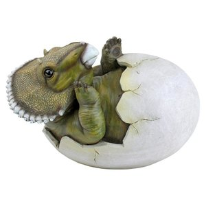 Baby Triceratops Dino Egg Statue