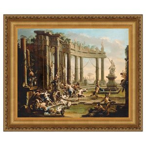 Bacchanale, 1730: Canvas Replica Painting: Small