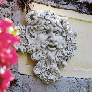 Bacchus, God of Wine Greenman Wall Sculpture: Large