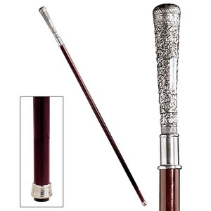 The Padrone Collection: Bachelor Pewter Walking Stick