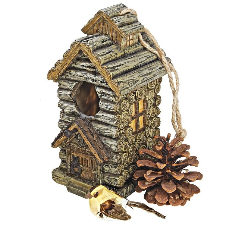 View larger image of Backwoods Bird House Collection: Cabin
