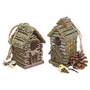 Backwoods Bird House Collection: Set of Two