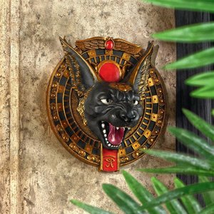 Bad Tempered Bastet Egyptian Cat Wall Plaque