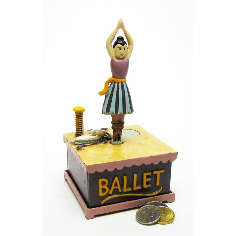 View larger image of Ballet Dancer Collectors' Die Cast Iron Mechanical Coin Bank