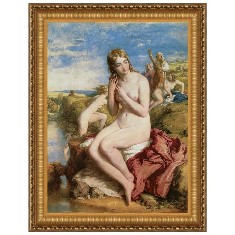 View larger image of Bathers Surprised, 1853: Canvas Replica Painting: Grande