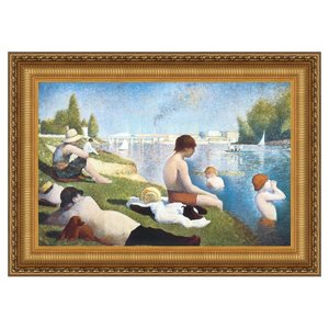 Bathing at Asnieres, 1883: Canvas Replica Painting: Small