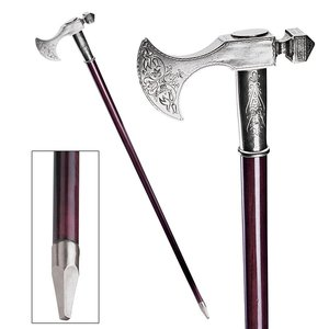 The Padrone Collection: Bavarian Pewter Walking Stick