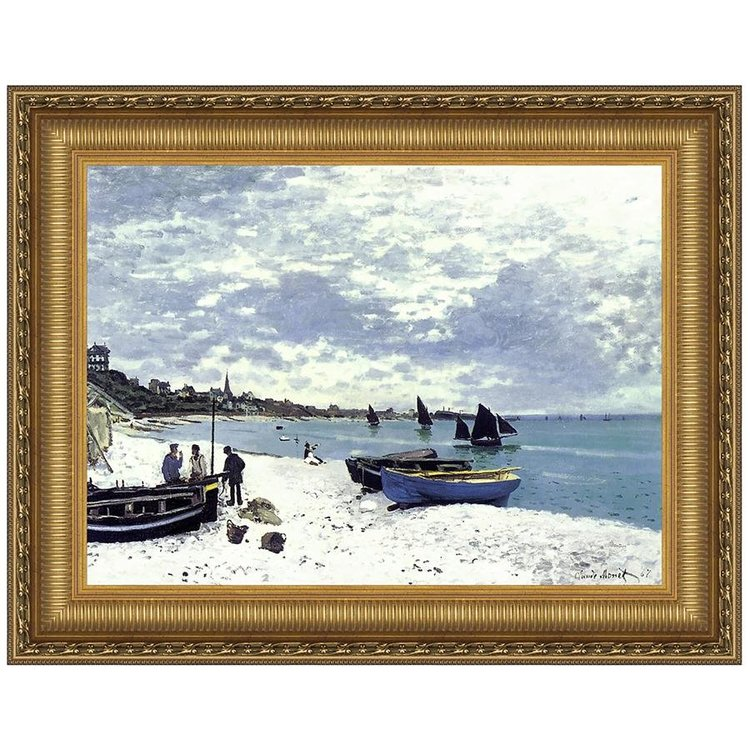 View larger image of Beach at Sainte-Adresse, 1867: Canvas Replica Painting: Grande