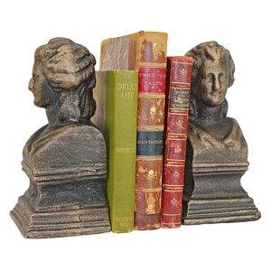 Beatrice the Guide of The Divine Comedy Cast Iron Sculptural Bookend Pair