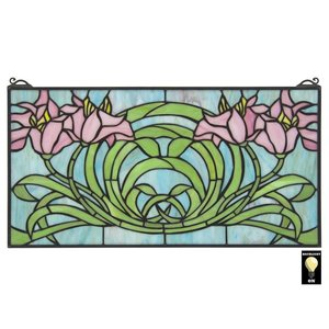 Beaucoup de Fleurs Tiffany-Style Stained Glass Window