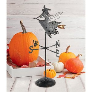 Bewitched Wicked Witch Tabletop Metal Weathervane