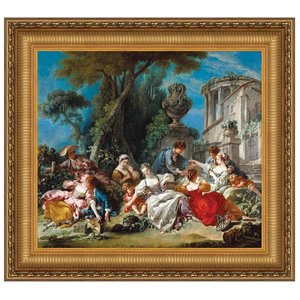 The Bird Catchers, 1748: Canvas Replica Painting: Small