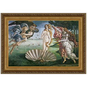 The Birth of Venus, 1485: Canvas Replica Painting: Small