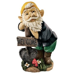 Black Forest Welcoming Gnome Statue