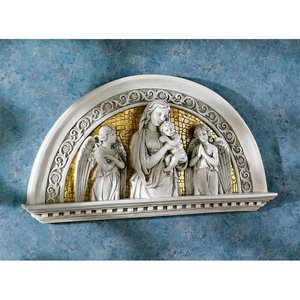 Blessed Virgin and Child Religious Arch Wall Sculpture