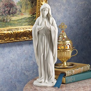 Blessed Virgin Mary Bonded Marble Statue