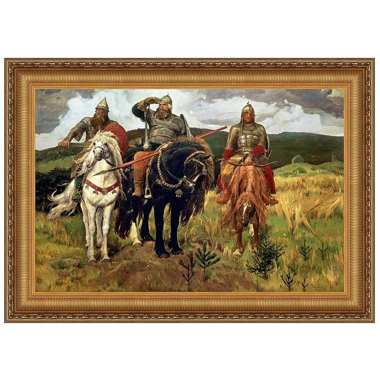 View larger image of Bogatyrs (Warrior Knights), 1898: Canvas Replica Painting: Medium