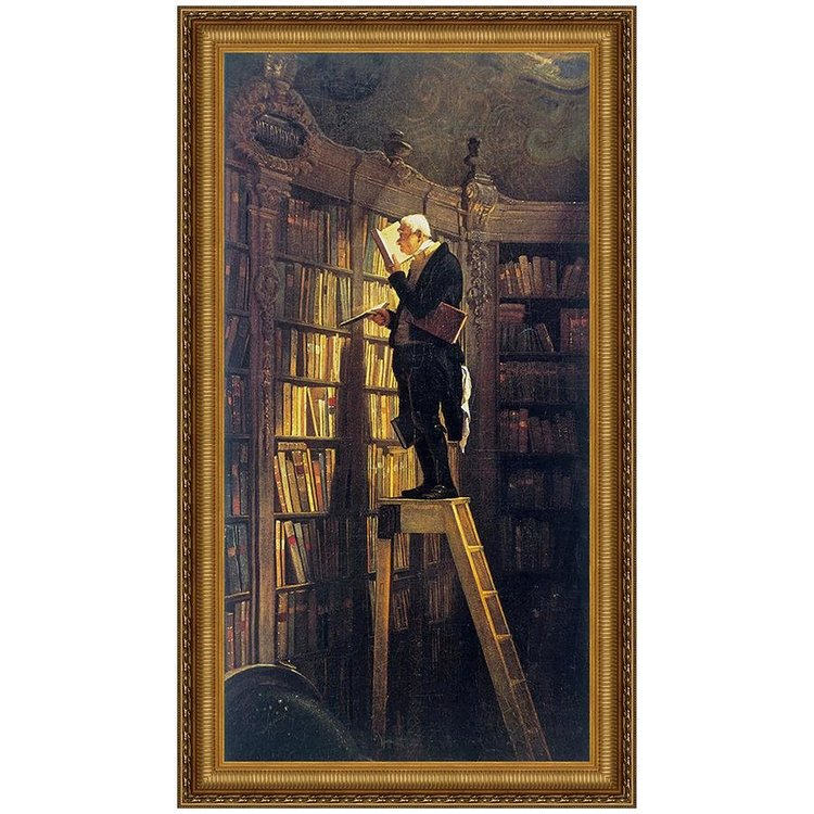 View larger image of The Bookworm, 1850: Canvas Replica Painting