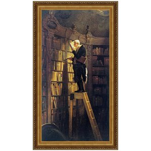 The Bookworm, 1850: Canvas Replica Painting: Small