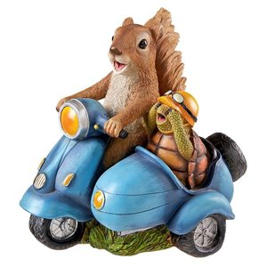 Born to be Wild Squirrel on Motorcycle Statue