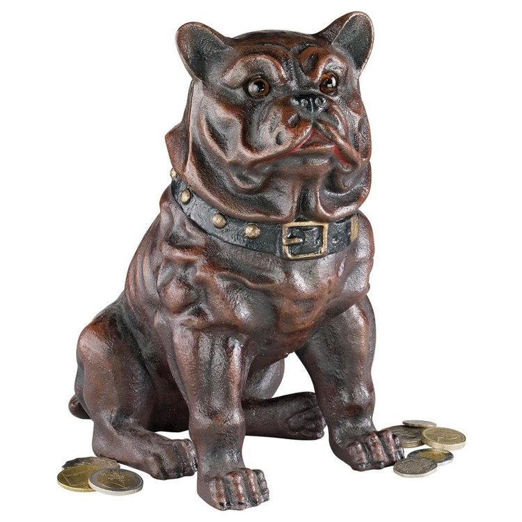 View larger image of Boss, the Sitting British Bulldog Collectors' Still Action Die-Cast Iron Coin Bank