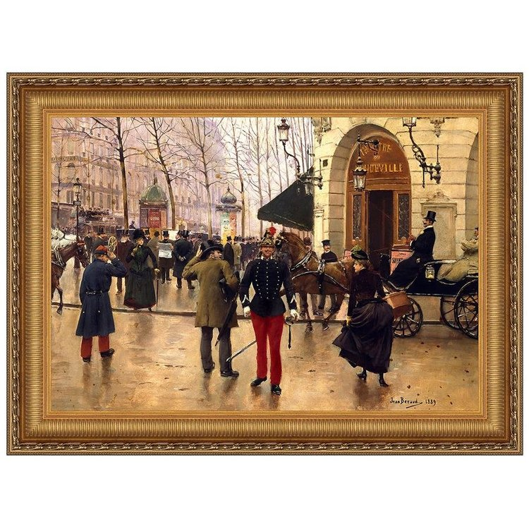 View larger image of Boulevard des Capucines and Vaudeville Theatre in Paris, 1889: Canvas Replica Painting: Small