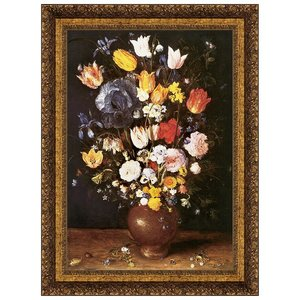 Bouquet of Flowers, 1608: Canvas Replica Painting: Small