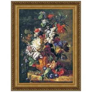 Bouquet of Flowers in an Urn, 1724: Canvas Replica Painting: Medium