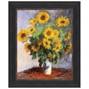 Bouquet of Sunflowers, 1881: Canvas Replica Painting: Small