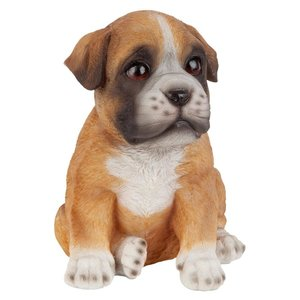 Boxer Puppy Partner Collectible Dog Statue