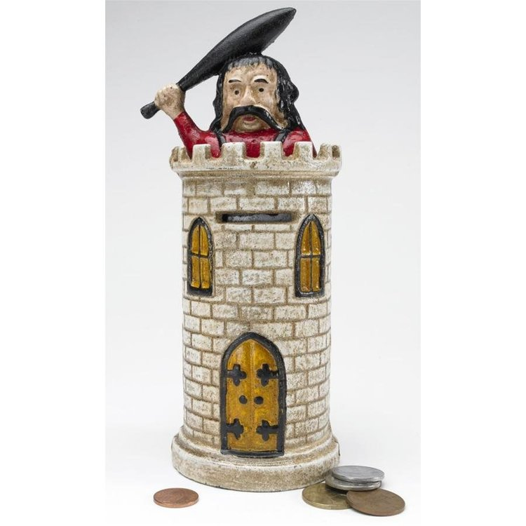 View larger image of Bracciano Castle Authentic Foundry Iron Mechanical Bank
