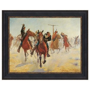 Breaking Through the Line, Canvas Replica Painting: Grande