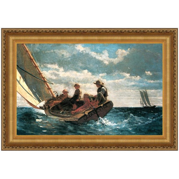 View larger image of Breezing Up (A Fair Wind), 1876: Canvas Replica Painting