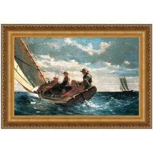 Breezing Up (A Fair Wind), 1876: Canvas Replica Painting: Small