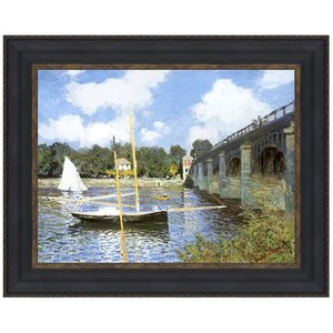 The Bridge at Argenteuil, 1874: Canvas Replica Painting: Small