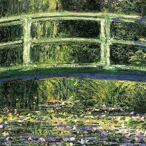 Bridge over a Pond of Water Lilies, 1899: Canvas Replica Painting: Large
