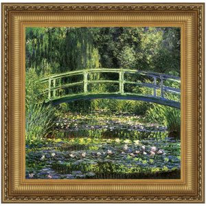 Bridge over a Pond of Water Lilies, 1899: Canvas Replica Painting: Small