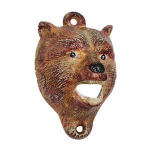 Brown Bear of the Forest Cast Iron Bottle Opener