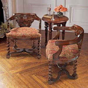 Brussels Library Bergere Chair: Set of Two