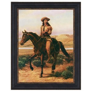 Buffalo Bill on Charlie, 1865: Canvas Replica Painting: Large