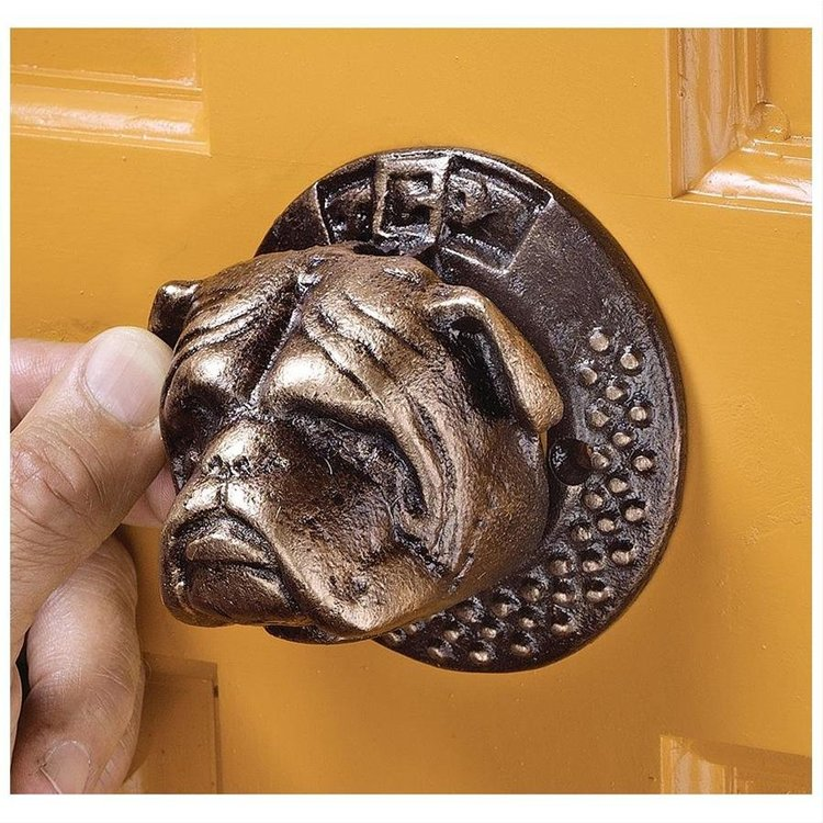 View larger image of Bulldog Authentic Foundry Iron Door Knocker: Set of Two