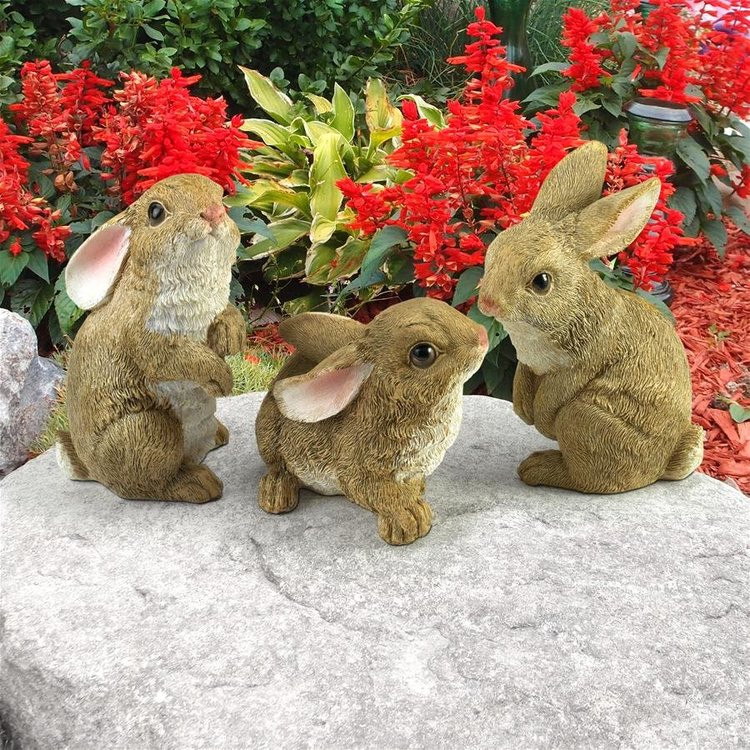 View larger image of The Bunny Den, Garden Rabbit Statues