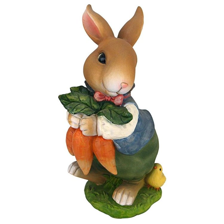 View larger image of Bunny Hop Lane Mother and Father Rabbit Statues: Set of Two