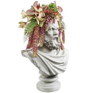 Bust Planters of Antiquity Statues: The Philosopher Socrates