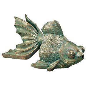 Butterfly Asian Koi Piped Spitter Statues
