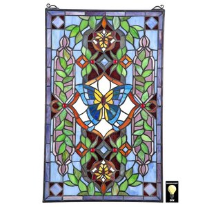 Butterfly Utopia Tiffany-Style Stained Glass Window