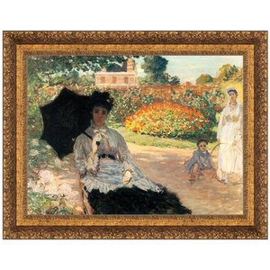 Camille in the Garden with Jean and his Nurse, 1873:  Small